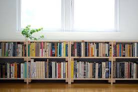 Low Bookcases With Doors Bookcase Low Wide With Doors Wooden Contemporary Solid Pine