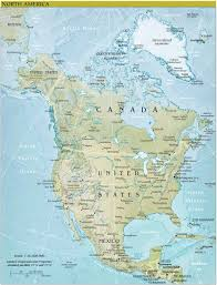 Geography Map Of Usa by Of Usa And Canada Cities
