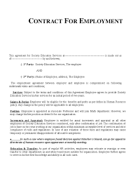 sample employment contract agreement template professional