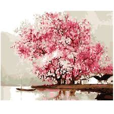 sakura cherry tree oil painting by number 40x50cm picture on wall