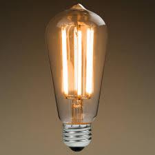led antique filament bulb edison style st58 6 watt 60w equivalent