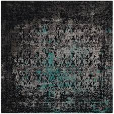 Teal Area Rug Home Depot Safavieh Classic Vintage Navy Teal 6 Ft X 6 Ft Square Area Rug