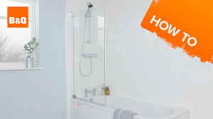 how to install a bath screen youtube how to install a bath screen