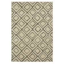 Mohawk Accent Rugs Mohawk Home Squares Cream 8 Ft X 10 Ft Area Rug 546823 The