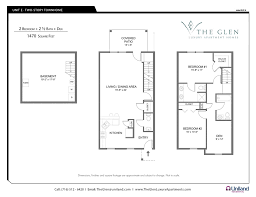 two bedroom apartments the glen the buffalo area s premier the glen floor plan for 2 bedroom apartments with den e units