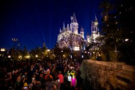 Halloween House Lights Video by Lumos See Hogwarts Light Up At New Universal Studios Hollywood