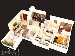floor plan 3d 3d floor plans cut section u2013 luminie studio