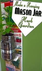 diy mason jar hanging herb garden mod podge rocks