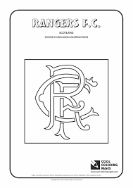 rangers f c logo coloring page cool coloring pages