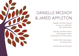 modern tree wedding invitation