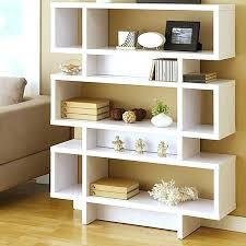Angled Bookshelf Bookcase Freestanding Bookcase Divider With Hideaway Pocket Door