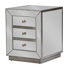 baxton studio currin 3 drawer mirrored nightstand hayneedle