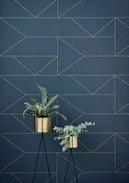 self adhesive wallpaper blue bermuda triangle lines wallpaper blue by ferm living