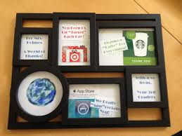 best christmas present ever husband framed gift cards i thought