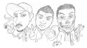 gangsta coloring pages pencil and ink by victor ramon at coroflot com