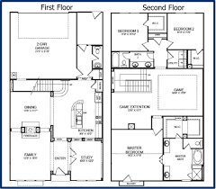 Two Bedroom Floor Plans House by Simple Two Story House Modern Two Story House Plans Houses Floor Plan