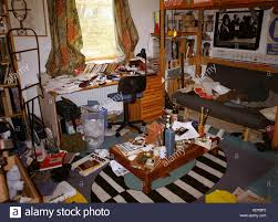 extremely messy teenage bedroom stock photo royalty free image