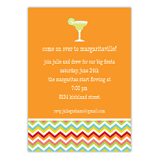interesting orange background color for cocktail party invitation