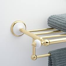 Antique Brass Bathroom Accessories by Towel Racks Towel Bars U0026 Towel Shelves Signature Hardware
