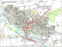map of baton s baton relay visits turriff today my turriff