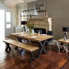 Reclaimed Dining Chairs Reclaimed Timber Dining Table With Bench And 3 Dining Chairs