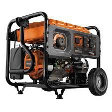 generac 7 000 watt gasoline powered electric start generator with