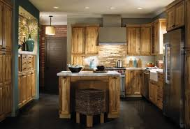 Stone Veneer Kitchen Backsplash Kitchen Sweet U Shape Kitchen Decoration With Rustic Solid Wood