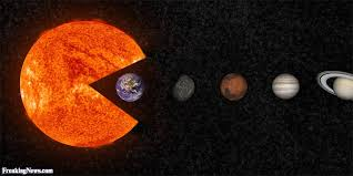 Pacman Memes - solar pacman eating planets pictures