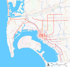 Traffic Map San Diego by San Diego Electric Railway Wikipedia