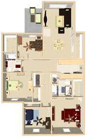 4 Bedroom Apartment by Apartments In Indianapolis Floor Plans