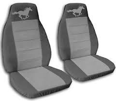 2010 mustang seat covers 2008 2010 front rear charcoal and grey seat covers ford