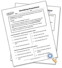 identifying prepositions worksheet free worksheets library