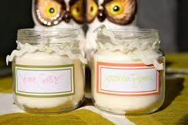 baby food jar projects soy candle place cards pretty prudent