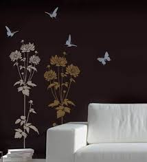 decoration horse wall made with stencils with grau stained wall full size of