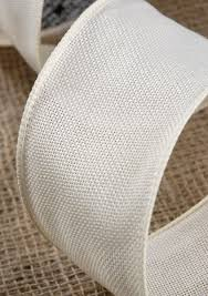 colored burlap ribbon ivory burlap ribbon 3in x 10 yds