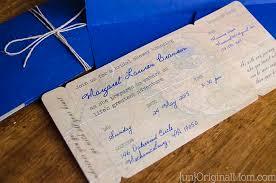 bridal invitations diy boarding pass bridal shower invitations unoriginal