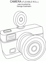 camera coloring pages kids coloring