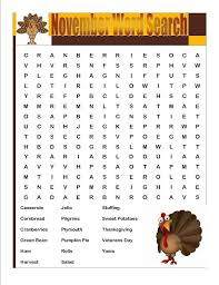 thanksgiving word puzzles for thanksgiving crossword