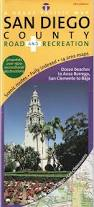 Map Of Balboa Park San Diego by San Diego County Road U0026 Recreation Map 6th Edition David J R