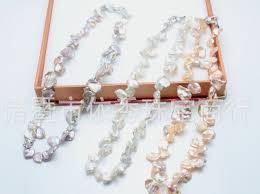 round pearl necklace images Natural freshwater pearls necklace baroque style flat profiled jpg