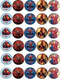 30 x spiderman top quality edible wafer rice paper cup cake