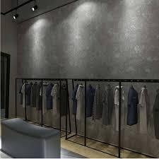 non woven industrial wind cement gray wall paper retro nostalgia