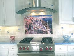 kitchen backsplash murals backsplash designs tuscan waterview tiles view of santorini