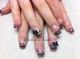 leopard print and bows nail art gallery