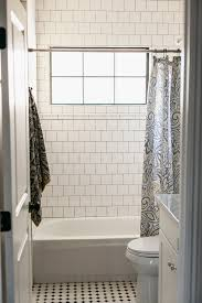 4x4 tile on brick pattern with dark grout by rafterhouse