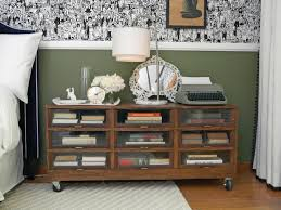 Rolling Bookcase Ladder by Rolling Bookshelf Doubles As Nightstand Hgtv Bookcase Nightstand