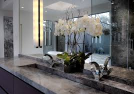 bathroom design trough sink bathroom with marble countertop and
