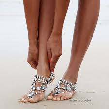 barefoot sandals for wedding barefoot wedding sandals for brides chic stylish weddings