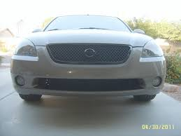 grey nissan altima 2003 so i removed the lower bar beneath the grill today nissan