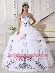 black and white quinceanera dresses embroidered quinceanera dresses